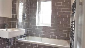 Grey Retro Bathroom